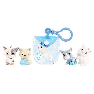- Kitty In My Pocket Kitties & Blue Clip On Pouch - 5 Kitties Included