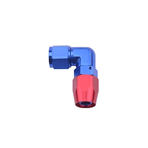 Daphot Store - AN 8 Anoized Aluminum Hose End AN8 Elbow Fittings 90 Degree Fitting Enforced Hose End Oil Fuel Line Adapter Oil Cooler