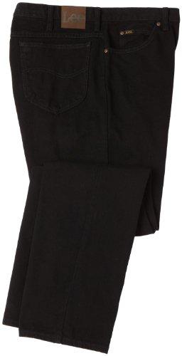 egular Fit Straight Leg Jean, Double Black, 48W x 32L ()
