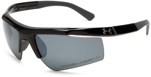 Under Armour Core Shiny Black Frame, with Charcoal Gray Rubber and Gray Polarized Multiflection - Under Core Ua Sunglasses Armour
