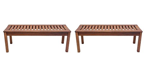 Achla Designs Backless Bench, 4-Foot (Pack of 2) (Achla Outdoor Bench)