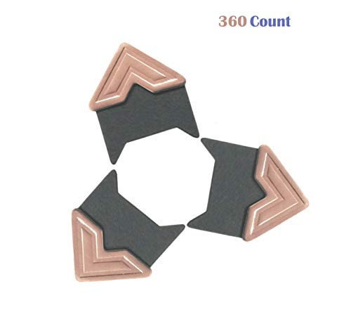 360 Count Self-Adhesive Acid Free Photo Corners for Scrapbooks Memory Books (Rose Gold)