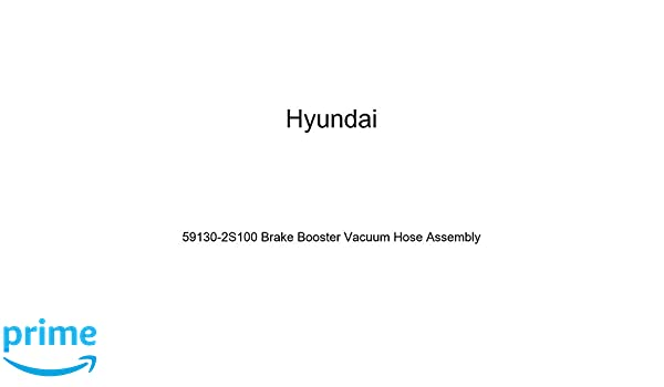 Genuine Hyundai 59130-3K100 Brake Booster Vacuum Hose Assembly