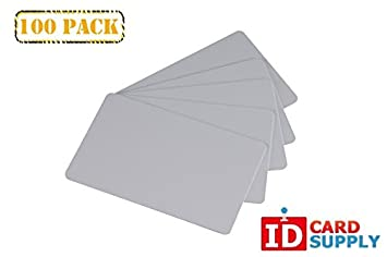 30 mil Thickness by easyIDea Pack of 100 Grey CR80 Standard Size PVC Cards