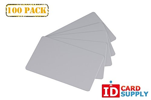 Pack of 100 Grey CR80 Standard Size PVC Cards | 30 mil Thickness by easyIDea