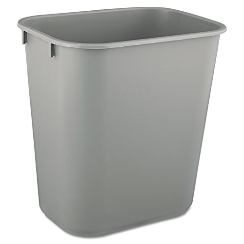 Soft Molded Plastic Wastebaskets (RCP2955GRA - Rubbermaid-Gray Soft Molded Plastic Wastebaskets, 13 5/8 Quart)