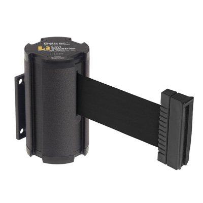 Wrinkle Black with Black Belt Beltrac 7 ft Wall-Mounted Retractable Belt Safety Barrier
