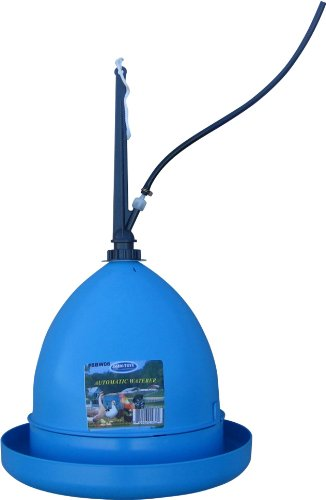 Blue Barn Feeder (Farm Tuff Automatic Hanging Poultry Fountain, Blue)
