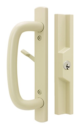 "Sliding Door Outside Pull (Veranda Sliding Glass Door Handle Set, Tan, Keyed, 3-15/16"" Screw Holes, 1-1/2"" Door Thickness)"