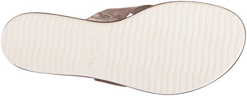 Clarks Womens Kele Heather Platform In Pelle Di Peltro