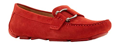 Naturalizer Women's Nara Loafers, Red Suede, 9.5 - Naturalizer Loafers Suede