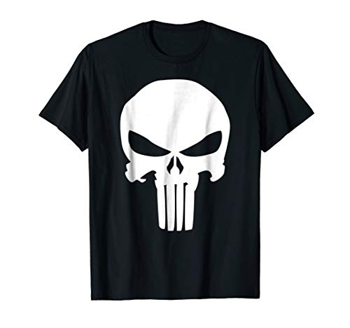 Marvel Punisher Classic Skull Symbol Graphic T-Shirt