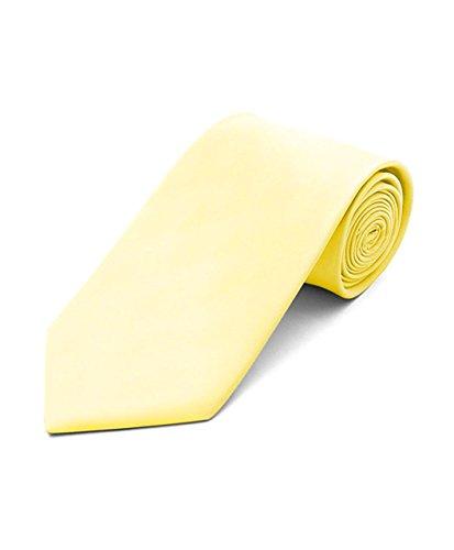 Men's Polyester Classic Solid Neckties-Light Yellow