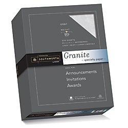 Southworth Fine Granite Paper, 24 lb, Gray, 500 Count ()