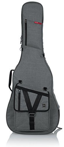 Gator Cases Transit Series Acoustic Guitar Gig Bag; Light Gr
