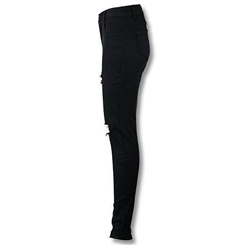 Crayon Pantalon Taille Jeans Skinny DChir Femme Jean Haute Noir Un Genou Sac Slim Pantalons Femme Pantalon Pantalons Coup Elargisseur Beautyjourney Frais Long Jeans RCxd50wd