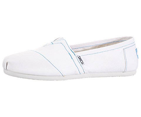 TOMS Shoes Women's White TOMS Canvas 6 B(M) US