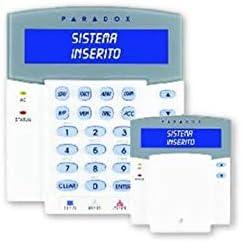 Paradox k641 + teclado con VISUALIZZATORE alfanumerico LCD con retroiluminación color azul de alta visibilidad, 2 rayas de 16 caracteres con mensajes ...