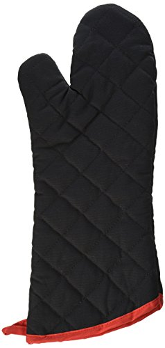 Charcoal Companion 17-Inch Flame Resistant Black BBQ or Oven Mitt