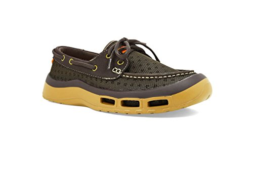 Soft Science Men's The Fin 2.0 Boat Shoes, Brown Mesh, 13...