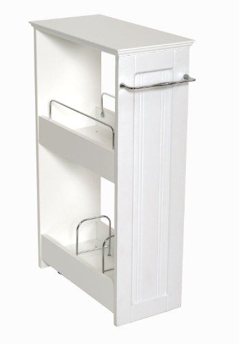 Price comparison product image Zenna Home 9227WWBB,  Slimline Rolling Storage Shelf,  White