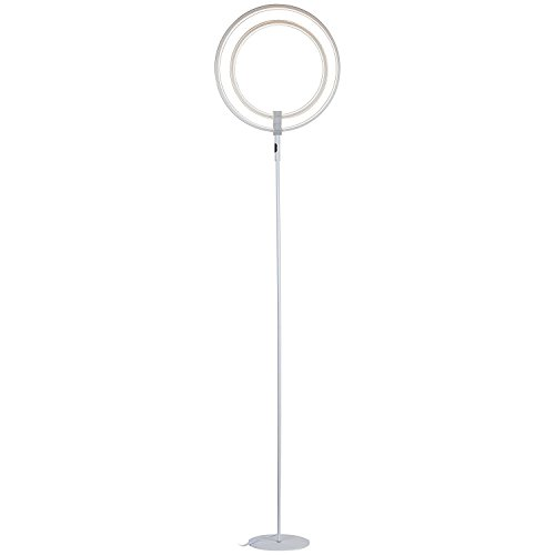 living room floor lamps amazon. led floor lamp - double rings of light bring sci-fi ambiance to contemporary spaces dimmable bright halo tall standing modern for living room, room lamps amazon g