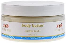 PURE FIJI Body Butter, Coconut, 8 Ounce