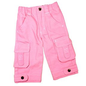 Pretty Pink Denim Cargo Jeans