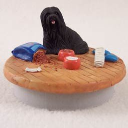 Conversation Concepts Miniature Lhasa Apso Black Candle Topper Tiny One ''A Day at Home'' by Conversation Concepts