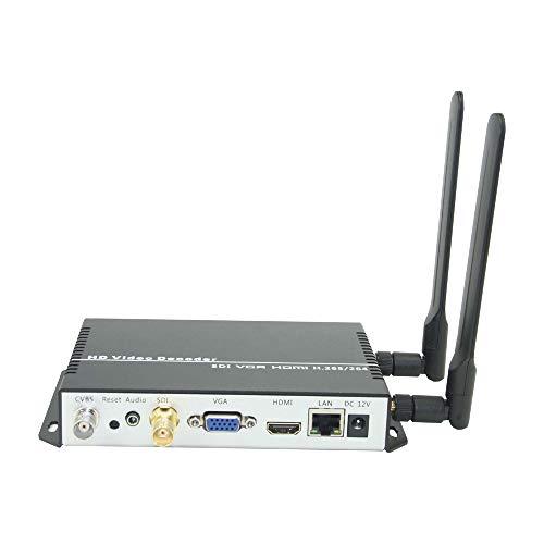 ISEEVY WiFi H.265 H.264 Video Decoder met HDMI VGA SDI Output voor Advertisement Display, IP Encoder Decoding, Network…