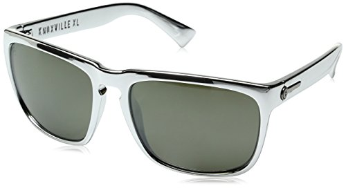 Electric Silver Sunglasses - Electric Visual Knoxville XL Silver Chrome/OHM Grey Sunglasses