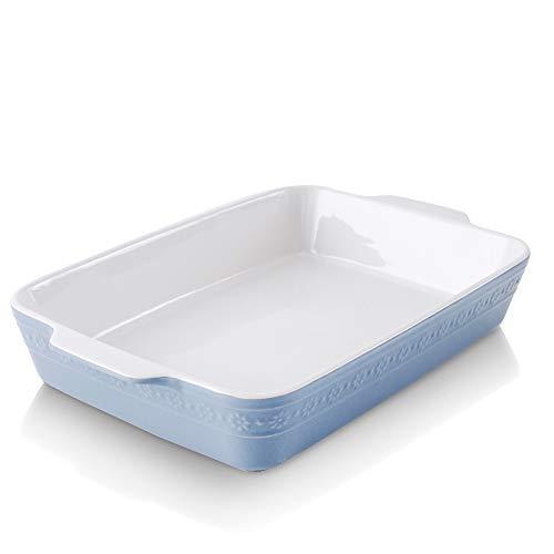 KOOV Individual Lasagne Pan Deep, Rectangular 9×13 Baking Dish, Ceramic Baking Dish, Bakeware for Tapas, Roasting…