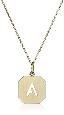 14k Gold-Filled Octagonal Pierced Initial