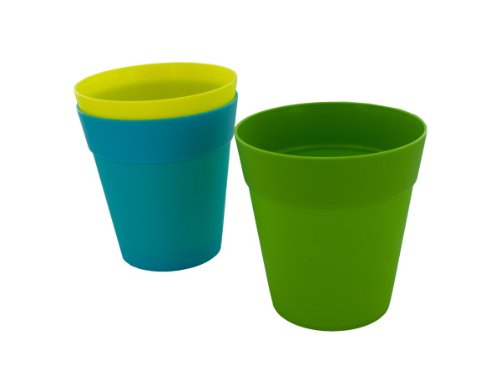 Colorful Plastic Flower Pot, 5 Inches, Assorted Colors - Case of 96 by bulk buys