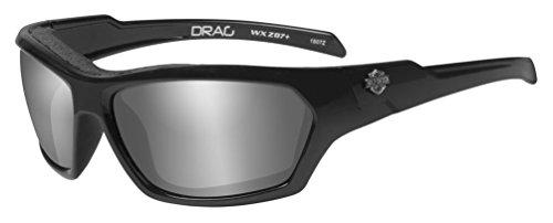 - Harley-Davidson Men's Drag Gasket Sunglasses, Gray Lens/Black Frames HADRA02