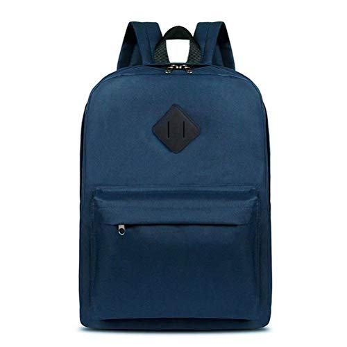RUYEE Laptop School Backpack, Waterproof School Backpack for Men Women, Lightweight Classic Travel Daypack College Student Rucksack Fits 14-inch Computer/MacBook Blue