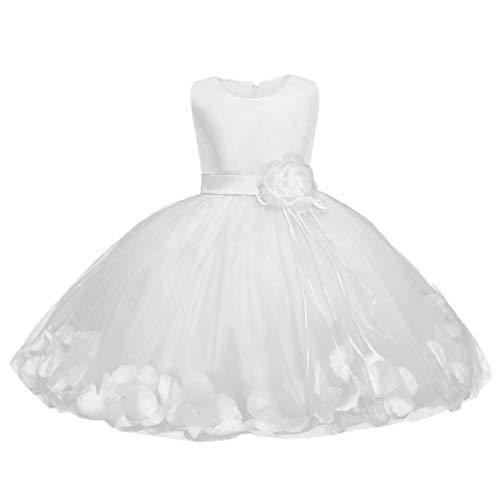 Da Sposa Sera Piccolo Maniche Principessa Senza Abito Baby Bianco Bambina Battesimo Cocktail 47cnWq1