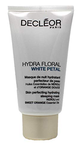 Decleor Hydra Floral White Petal Neroli and Sweet Orange Skin Perfecting Hydrating Sleeping Mask, 1.7 Ounce