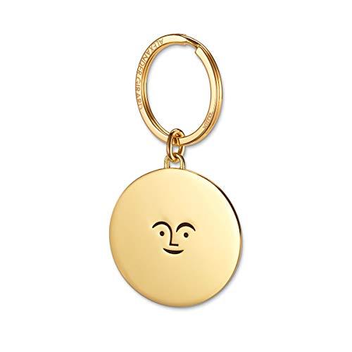 Sun Key Chain Ring Designed by Alexander Girard, Brass