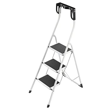 Hailo 4343-001 Safety Plus 330-Pound Capacity Step Stool, 3-Step