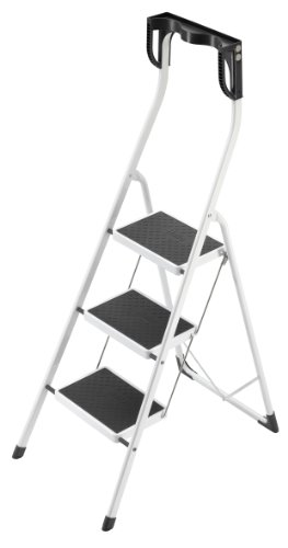 Hailo 4343-001 Safety Plus Step Stool, 3, White and Black -