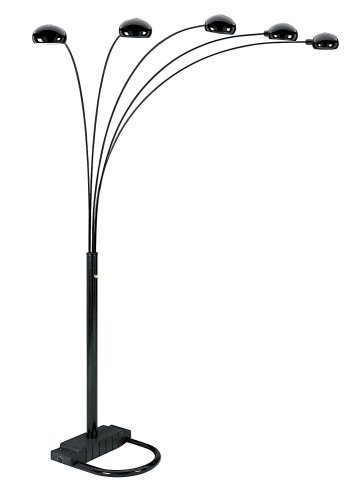 Ore International 6962Bk 5 Arm Arch Floor Lamp, Black At A Glance