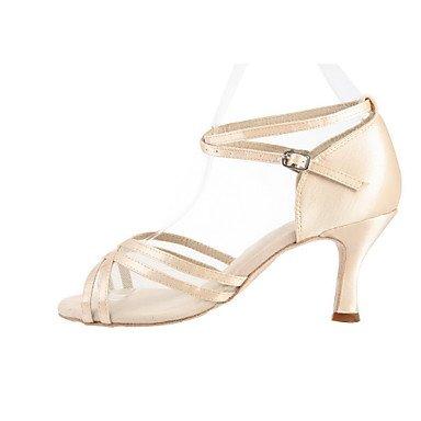 Anpassen Performance Tanzschuhe aus Satin Latin Schuhe für Frauen , nude