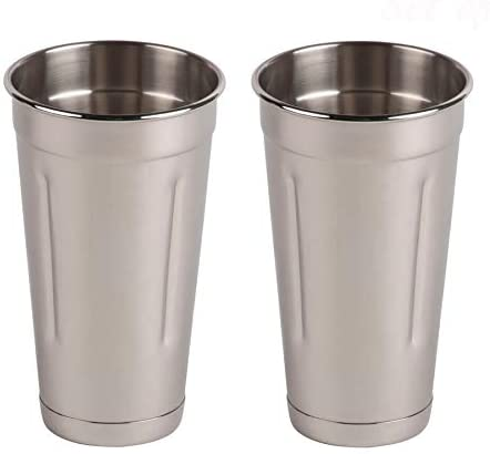 30 oz Stainless Steel Malt Milkshake Cup for Milkshake Machines Two Ice Cream and Milkshake Machine Cups Libertyware Stainless Steel Malt Milkshake Mixing Cup 2 Pack Two 30 oz Cups