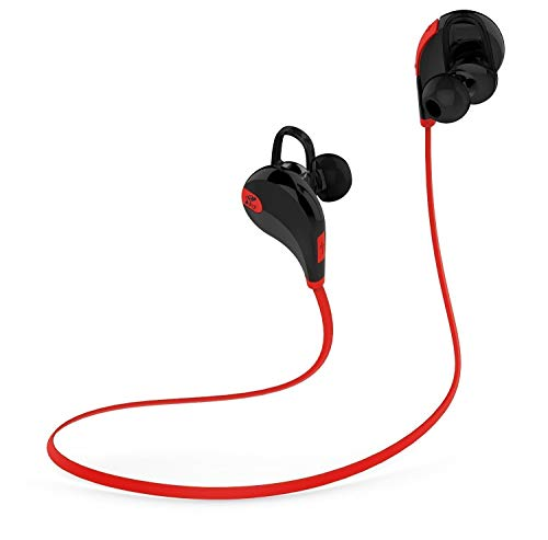 Soundpeats Soundbeats QCY Qy7 Mini Lightweight Wireless Stereo Sports/running & Gym/exercise Bluetooth Earbuds Headphones Headsets W/microphone for Iphone 5s 5c 4s 4, Ipad 2 3 4 New Ipad, Ipod, Android, Samsung Galaxy, Smart Phones Bluetooth Devices (black/red)