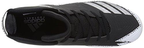 Pictures of adidas Men's Freak X Carbon Mid Football Shoe, Black/Metallic Silver/White, 9.5 Medium US 2