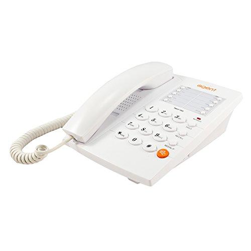 TruVoice Agent 1000 Business Analog Landline Phone White - (Includes Headset Port and 10 x Memory Keys)