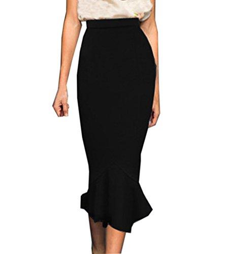 Jupe Crayon Moulante Jupe Elgant Jupe Elastique Sirne Longue Jupe Taille Haute Bodycon Noir