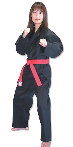 Tiger Claw Traditional Karate Uniform (Black, 5)