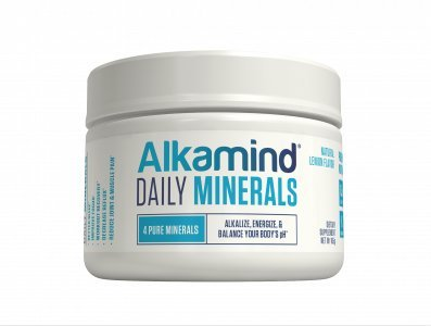 AlkaMind Daily Minerals Supplement to GET OFF YOUR ACID! 4 Pure Minerals to Alkalize & Replenish and Balance Your Body's pH - Delicious Natural Lemon Flavor - 30 Day Supply - 100% Satisfaction Guaranteed!